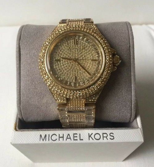 Michael Kors Michael Kors Women's Camille Gold Pave Dial Crystal Encrusted MK5720 Image 5