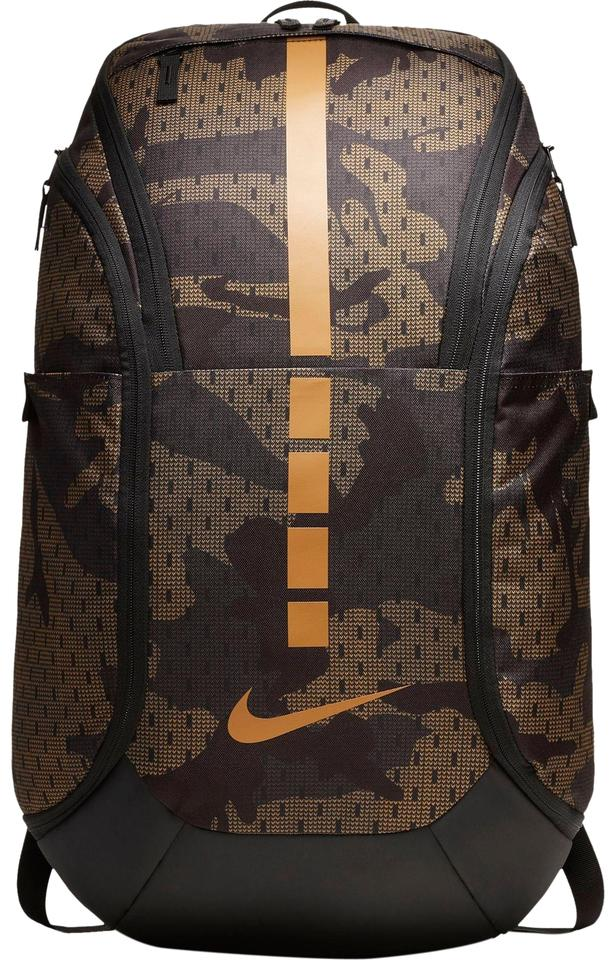 Nike Hoops Unisex Elite Pro Camo Velvet Brown/Golden Beige Polyester  Backpack 22% off retail