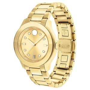 Movado Movado Women's Bold Gold Dial Yellow Gold Ion-plated Watch 3600416