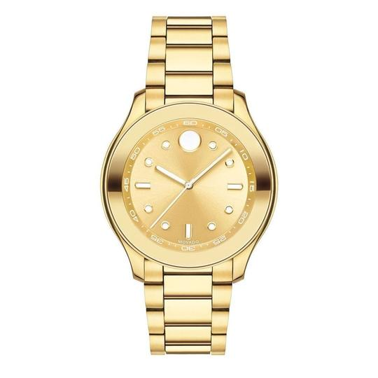 Movado Movado Women's Bold Gold Dial Yellow Gold Ion-plated Watch 3600416 Image 2