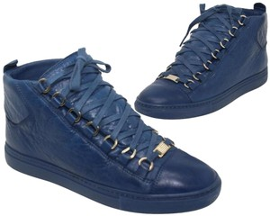tetraedro immagine questi  Balenciaga Blue Matte Effect Lambskin Leather Tone-on-tone Laces ...
