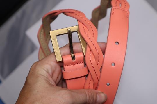 Vince Camuto Peach Leather Waist Belt Gold Hardware Buckle Image 1