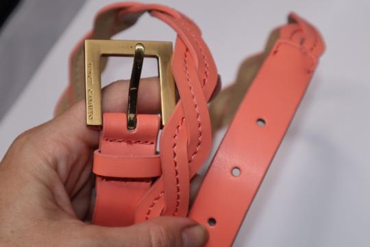 Vince Camuto Peach Leather Waist Belt Gold Hardware Buckle Image 2