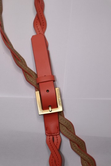 Vince Camuto Peach Leather Waist Belt Gold Hardware Buckle Image 3