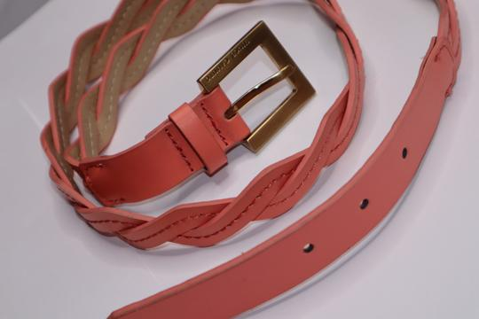 Vince Camuto Peach Leather Waist Belt Gold Hardware Buckle Image 4