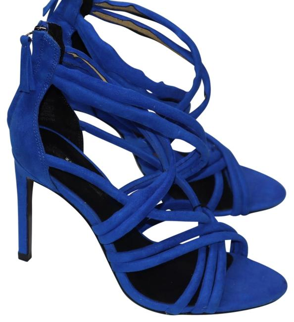 Item - Cobalt Blue New with Tags Suede Crisscross Strappy Ankle Sandals Size EU 39 (Approx. US 9) Regular (M, B)