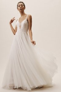 BHLDN Ivory Mercer Wtoo By Watters Gown Traditional Wedding Dress Size 6 (S)