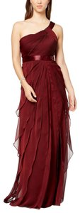 Adrianna Papell One Shoulder Flutter Draped Dress