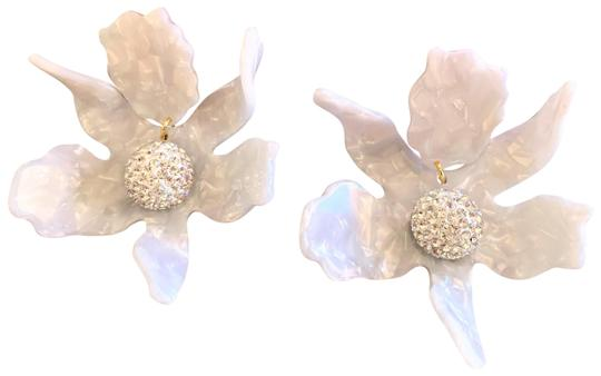 Preload https://img-static.tradesy.com/item/25909824/lele-sadoughi-white-mother-of-pearl-crystal-lily-clip-on-earrings-0-1-540-540.jpg