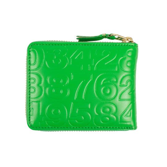 COMME des GARÇONS Leather Number Embossed Small Wallet Image 1