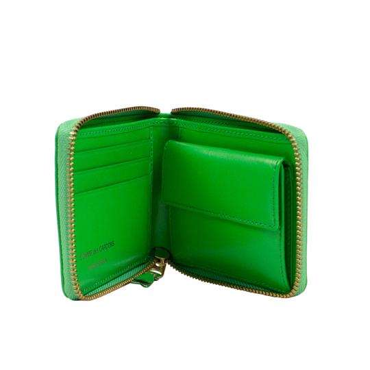 COMME des GARÇONS Leather Number Embossed Small Wallet Image 2