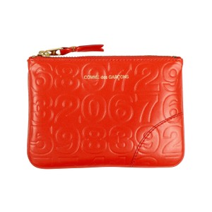 COMME des GARÇONS Leather Number Embossed Wallet Pouch