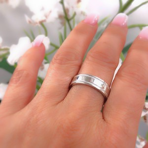 Tiffany & Co. Platinum Co 6 Mm Essential Double Milgrain Band Ring