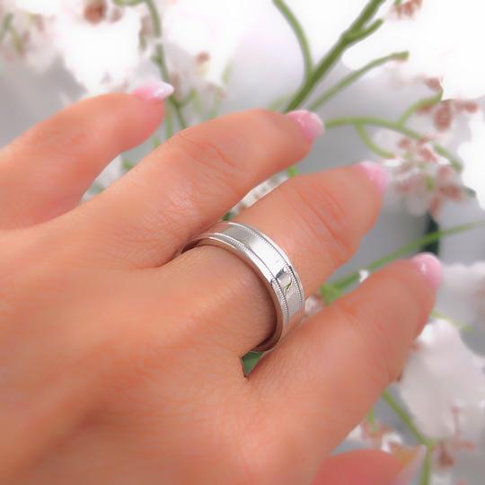 Tiffany & Co. Platinum Co 6 Mm Essential Double Milgrain Band Ring Image 1