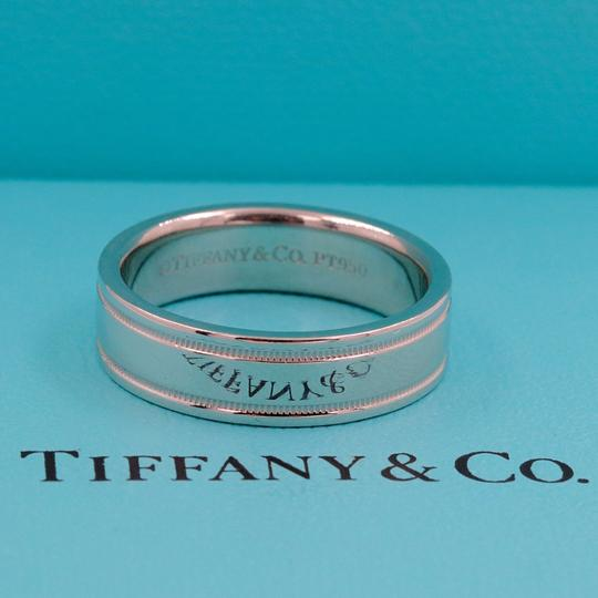 Tiffany & Co. Platinum Co 6 Mm Essential Double Milgrain Band Ring Image 2