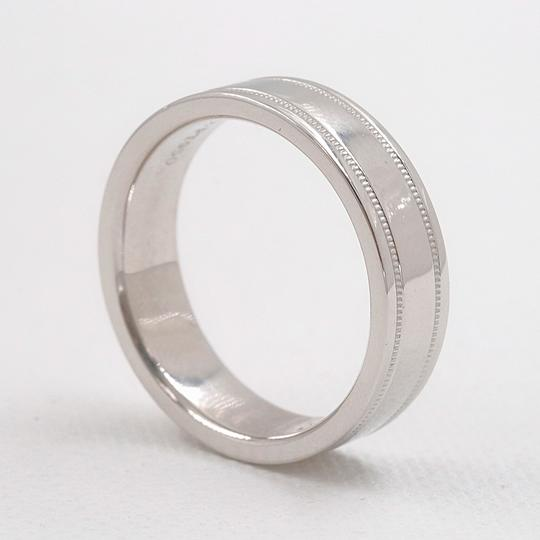 Tiffany & Co. Platinum Co 6 Mm Essential Double Milgrain Band Ring Image 3