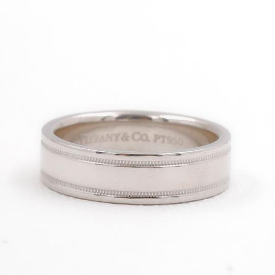 Tiffany & Co. Platinum Co 6 Mm Essential Double Milgrain Band Ring Image 4