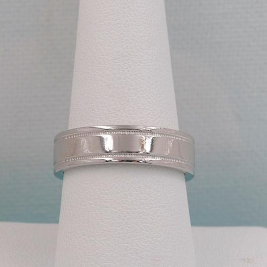 Tiffany & Co. Platinum Co 6 Mm Essential Double Milgrain Band Ring Image 5