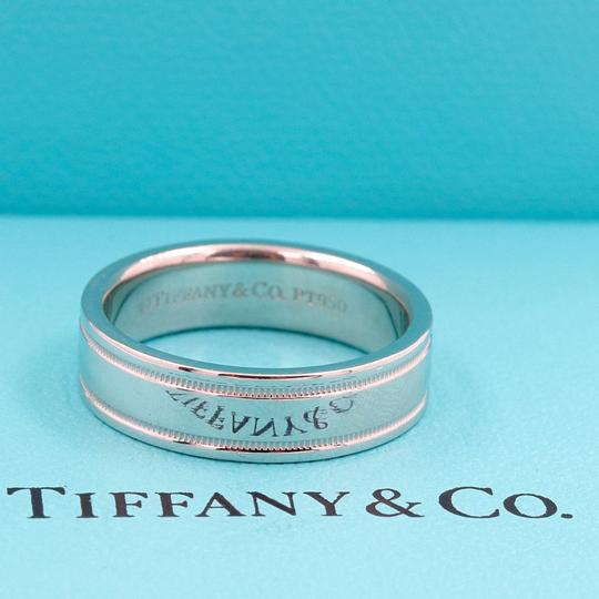 Tiffany & Co. Platinum Co 6 Mm Essential Double Milgrain Band Ring Image 6