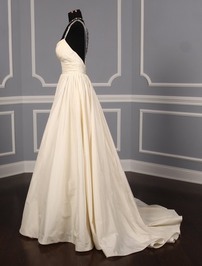 Lea-Ann Belter Ivory Silk Taffeta Madeleine Formal Wedding Dress Size 6 (S) Image 5