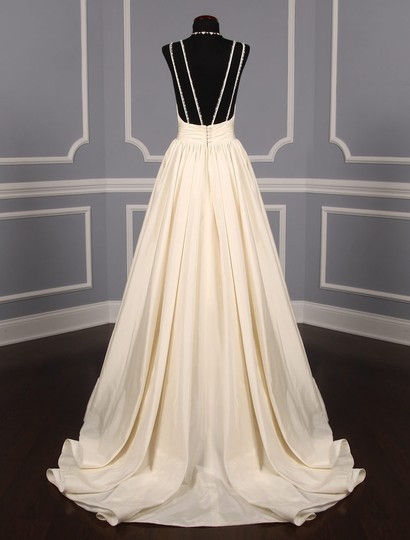 Lea-Ann Belter Ivory Silk Taffeta Madeleine Formal Wedding Dress Size 6 (S) Image 6
