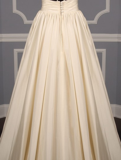 Lea-Ann Belter Ivory Silk Taffeta Madeleine Formal Wedding Dress Size 6 (S) Image 8