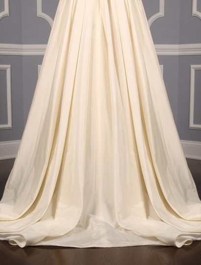 Lea-Ann Belter Ivory Silk Taffeta Madeleine Formal Wedding Dress Size 6 (S) Image 9