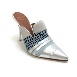Malone Souliers SIlver / Blue Mules