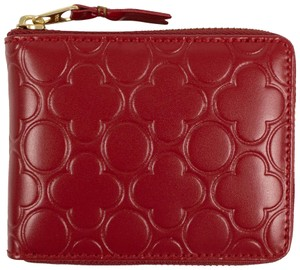 COMME des GARÇONS Leather Clover Embossed Small Wallet