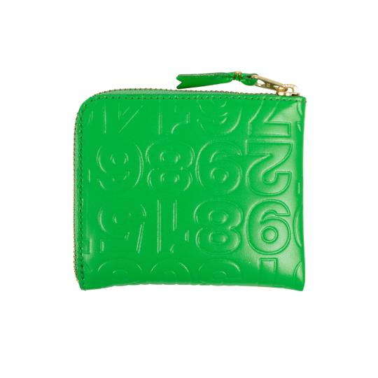 COMME des GARÇONS Leather Number Embossed Slim Wallet Image 1