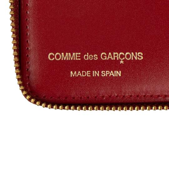COMME des GARÇONS Leather Number Embossed Slim Wallet Image 4
