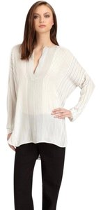 Vince Top White With Black Strips