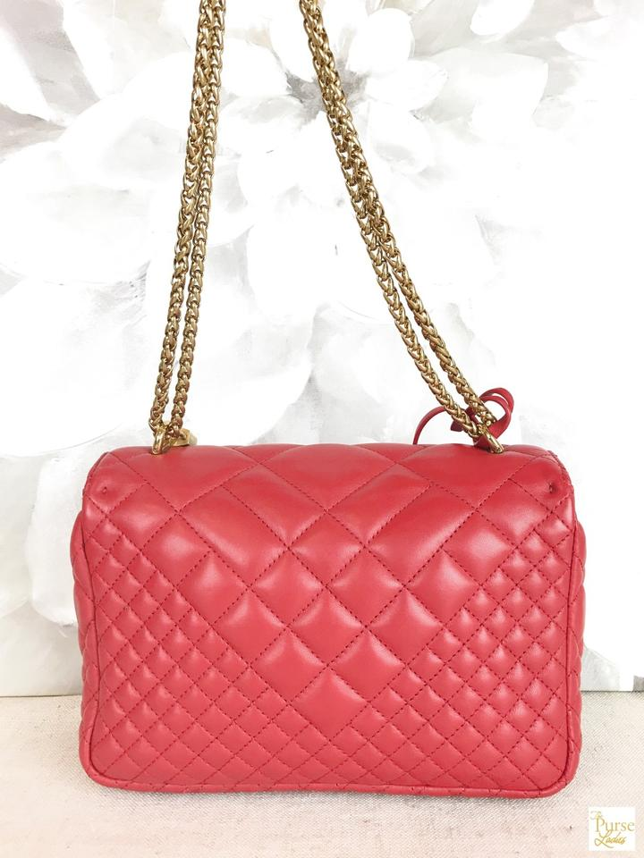 de6795a5 Versace Flap Quilted Medusa Head Icon Medium Sale Red Leather Cross Body  Bag 47% off retail