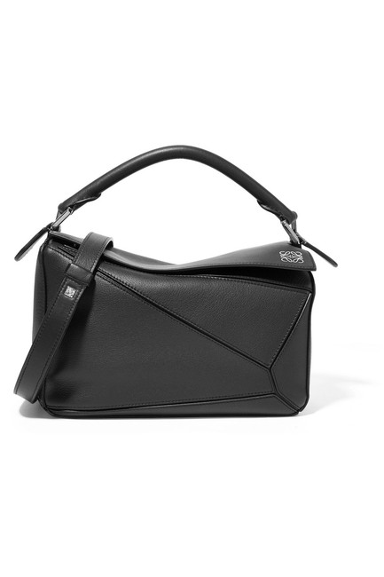 Item - Shoulder Puzzle Small Textured-leather Calfskin Leather Cross Body Bag
