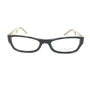 Burberry Burberry Rectangle Black Plaid 3001 Rx Eyeglasses