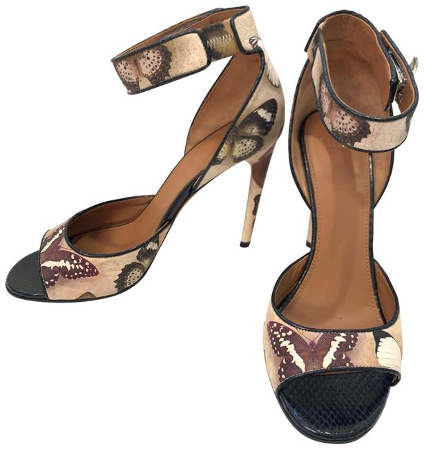 Item - Nude/Black Butterfly Print Strappy Sandals Pumps Size EU 39 (Approx. US 9) Regular (M, B)
