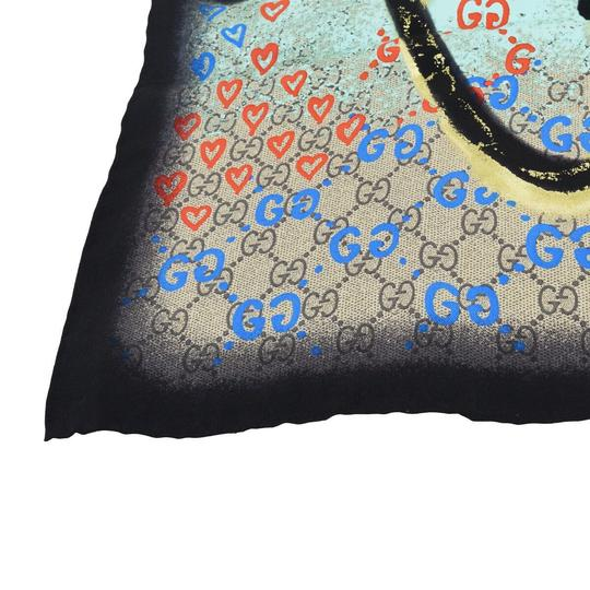 Gucci Authentic GUCCI GG Pattern Scarf Silk Black Accessory Made In Italy Image 5