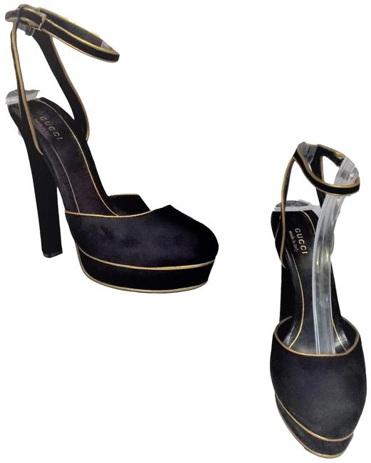 Item - Black Strappy Platforms Size EU 37 (Approx. US 7) Narrow (Aa, N)