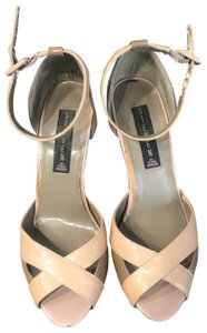 Steve Madden patent tan and brown Sandals