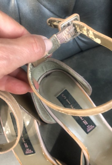 Steve Madden patent tan and brown Sandals Image 1