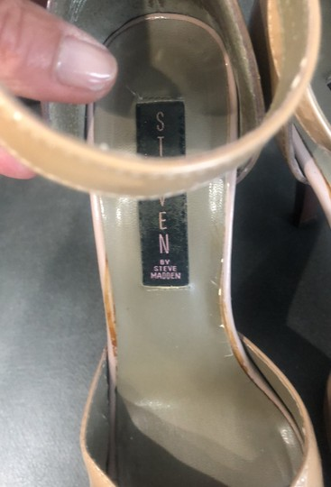 Steve Madden patent tan and brown Sandals Image 2