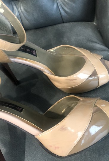Steve Madden patent tan and brown Sandals Image 3