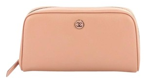 Chanel Vintage Cosmetic Pouch Wristlet in pink