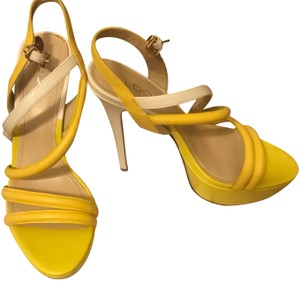 ALDO Yellow and White Sandals