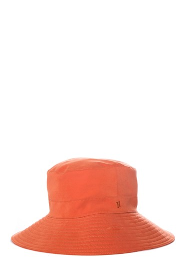 Herme HERMES Orange Woven Bucket Hat Image 2