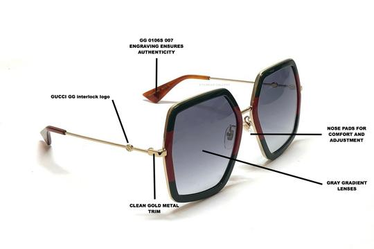 Gucci Large Style gg0106S 007 - FREE 3 DAY SHIPPING Oversized Image 3