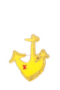 Louis Vuitton LOUIS VUITTON Yellow Anchor Brooch