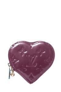 Louis Vuitton LOUIS VUITTON Purple Vernis Heart Coin Purse