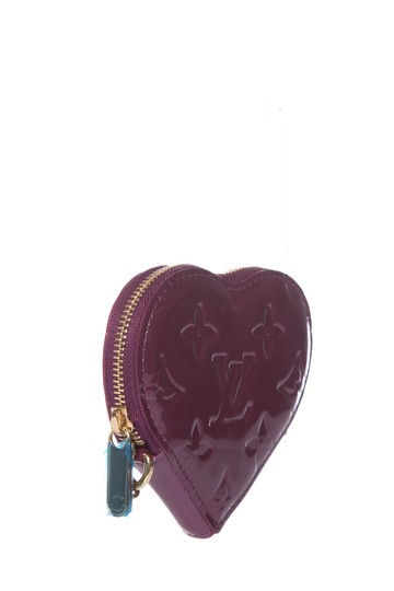 Louis Vuitton LOUIS VUITTON Purple Vernis Heart Coin Purse Image 1