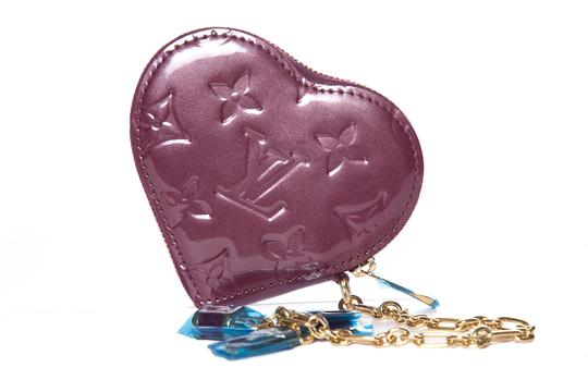 Louis Vuitton LOUIS VUITTON Purple Vernis Heart Coin Purse Image 5